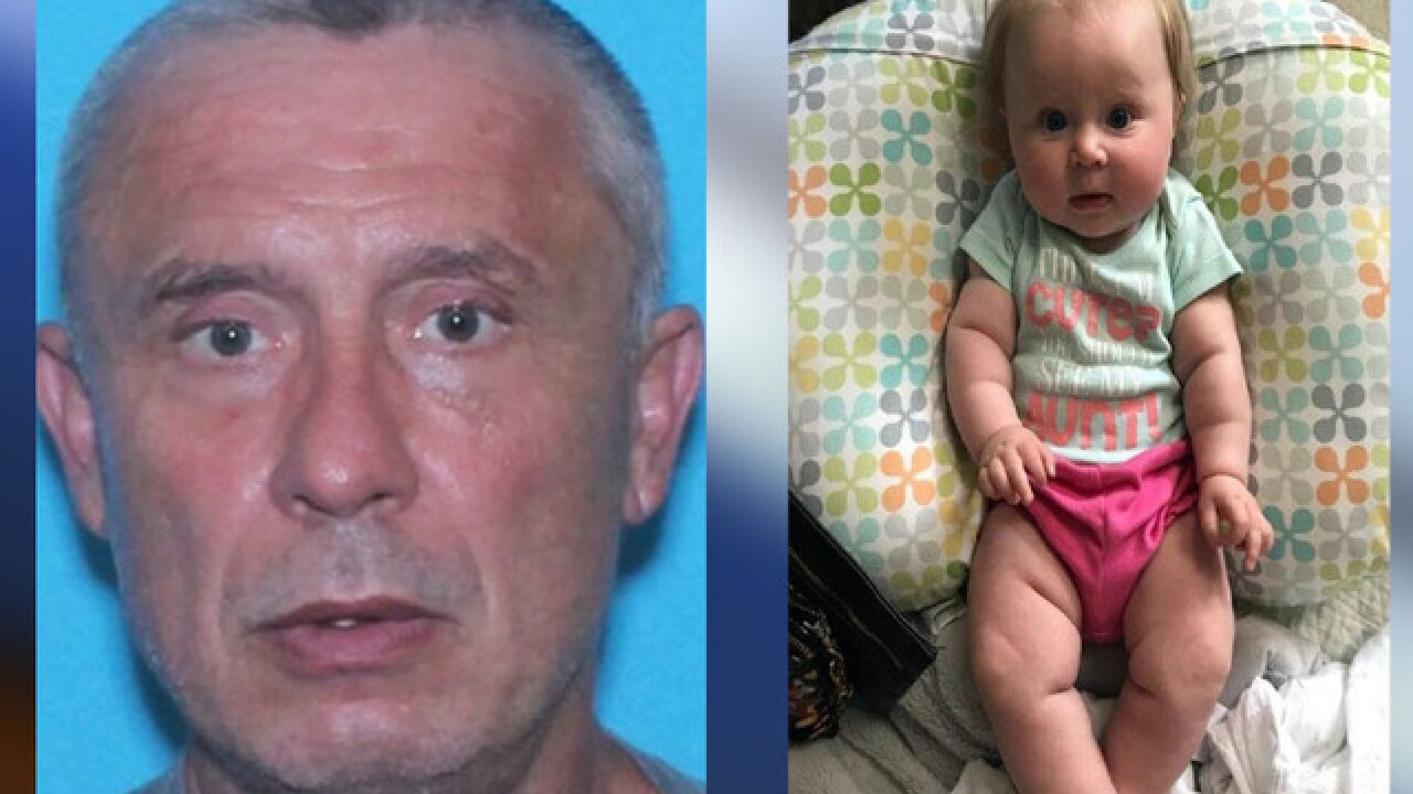 Amber Alert issued for Virginia baby believed to have been abducted by sex offender father