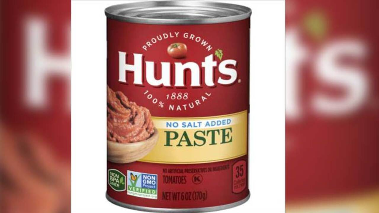 Conagra Brands, Inc. on April 4, 2019 is voluntarily recalling a limited amount of Hunt's Tomato Paste No Salt Added six-ounce cans.