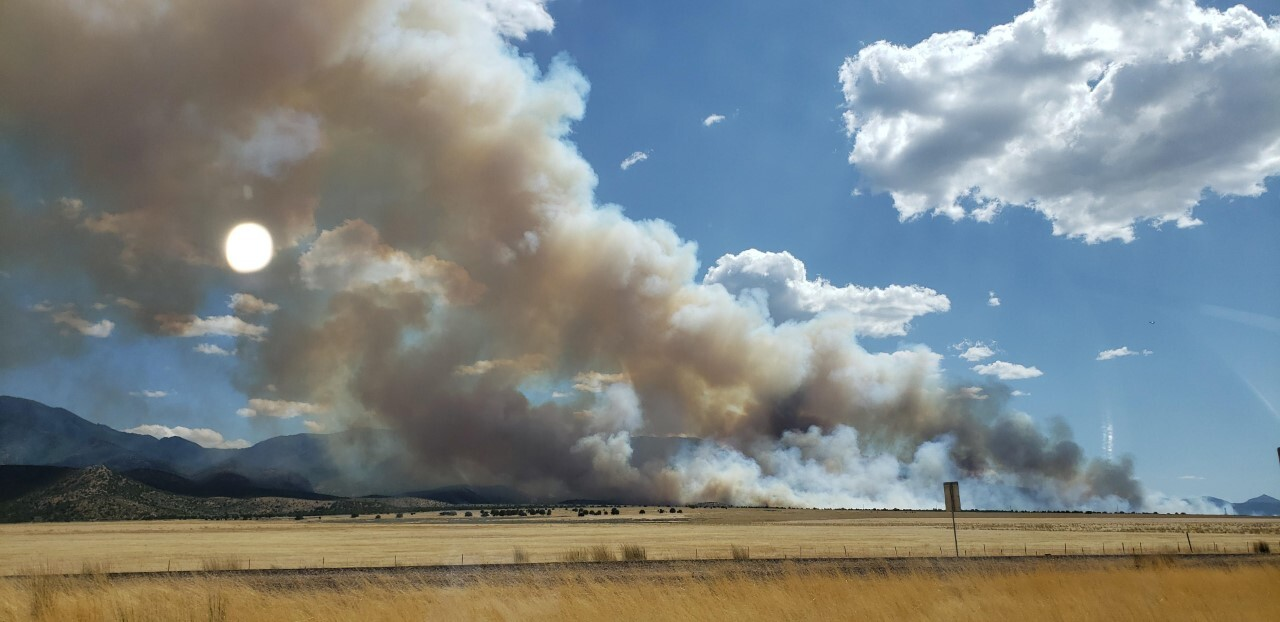 Photos: 'Meadow Creek Fire' burning 1,200 acres in Millard County