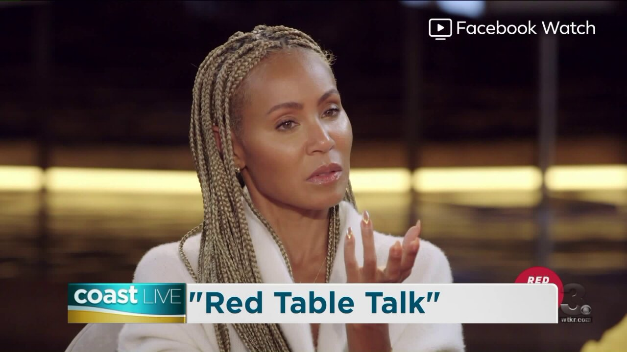 "Jada Pinkett Smith talks about her latest episode of ""Red Table Talk"" on Coast Live"