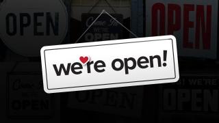 We're Open image