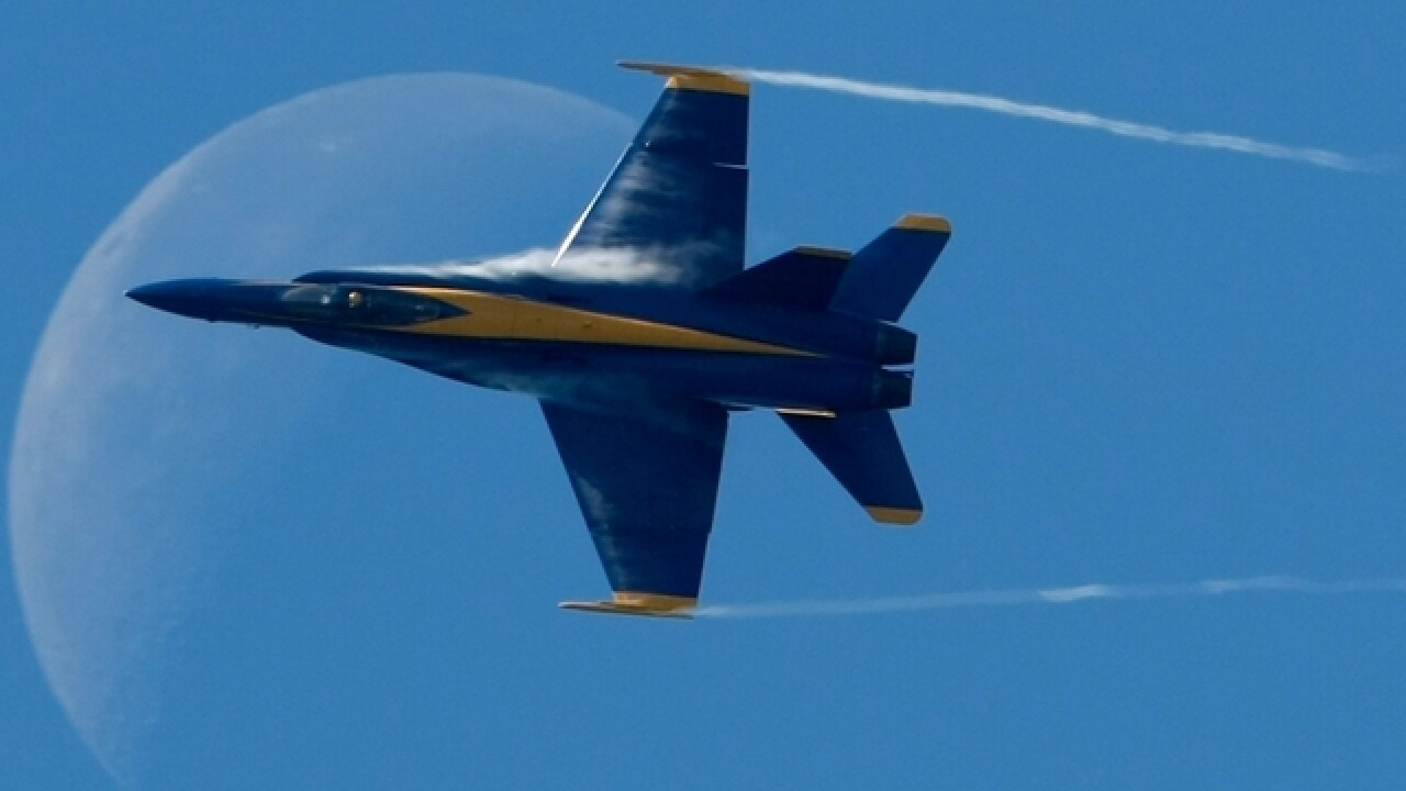 Blue Angels sunset flyover honors Hurricane Michael victims