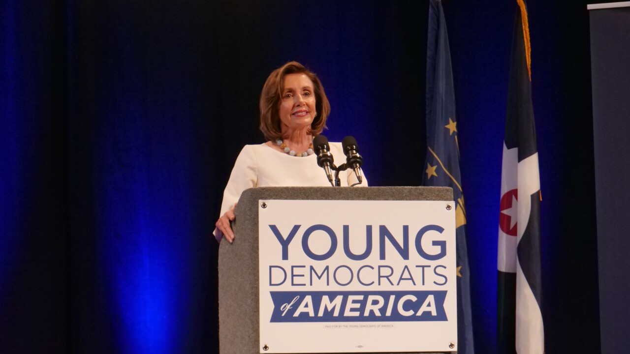 House Speaker Nancy Pelosi discusses past, present of Democratic Party in Indianapolis speech