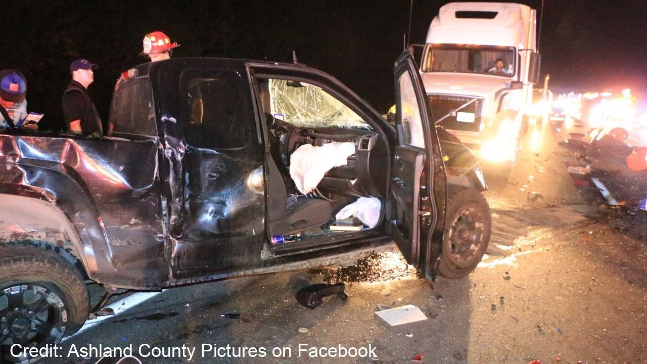 Ashland County crash. Credit: Ashland County Pictures