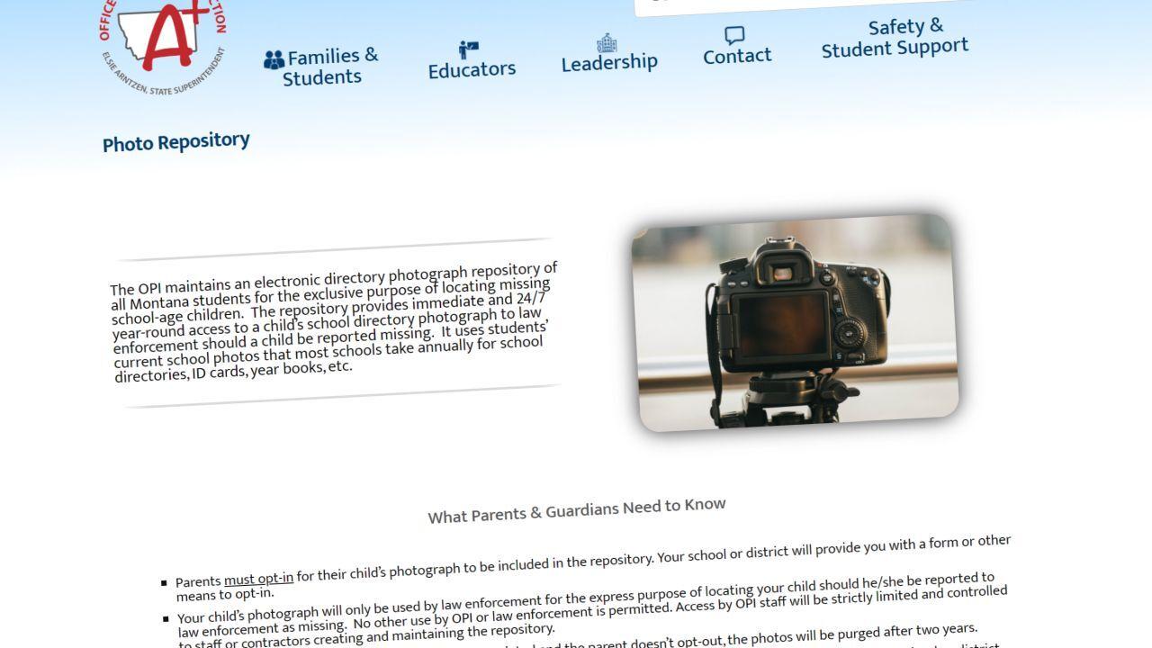 Montana school photo repository
