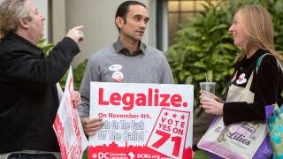 Voters in Alaska, Oregon and D.C. approve marijuana legalization