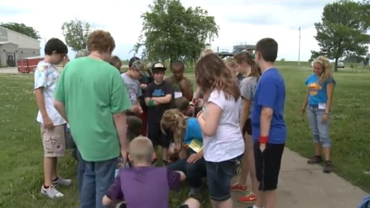Kids learn life-saving skills Zombie Camp