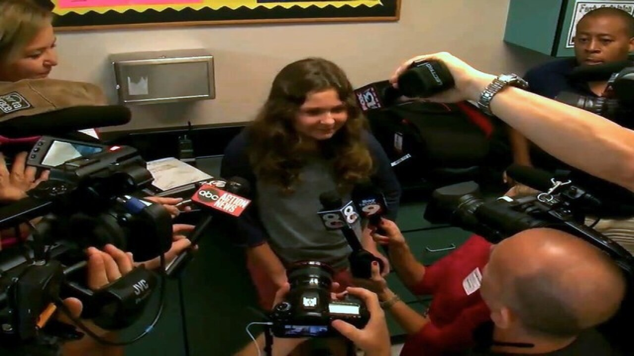 6th grader honored by Tampa Police