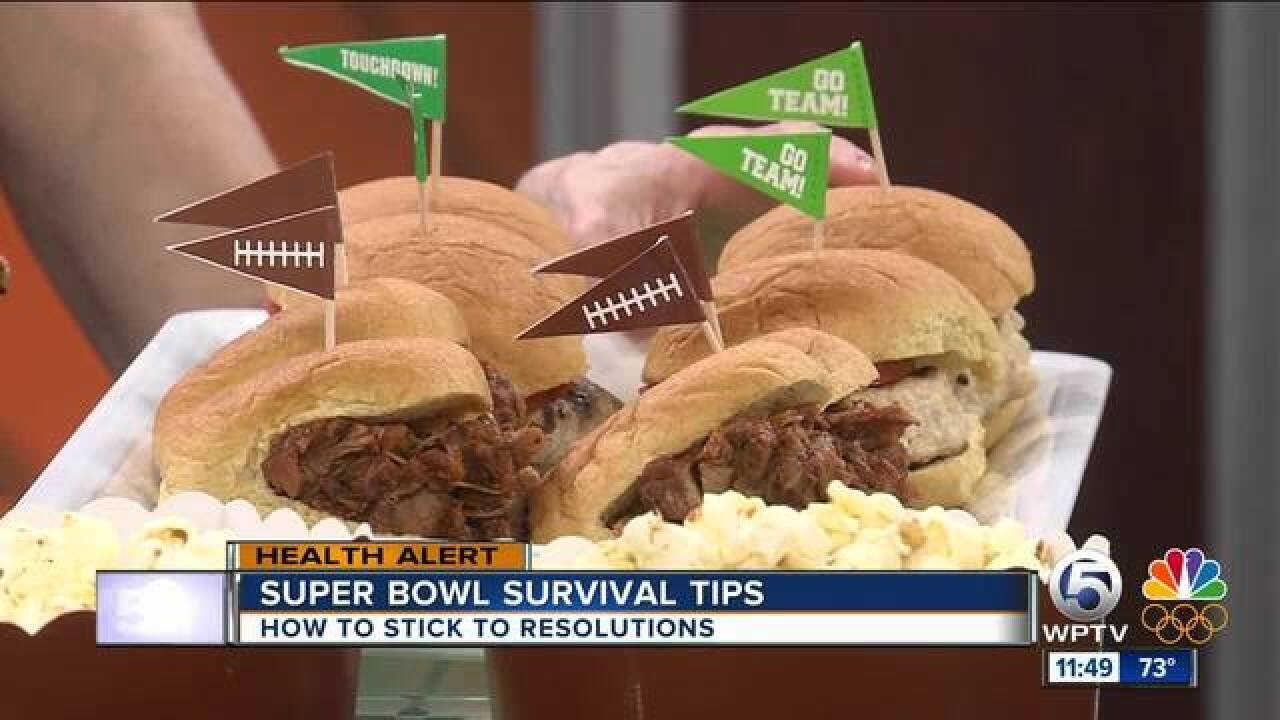 Advice on sticking to your diet during Super Bowl parties