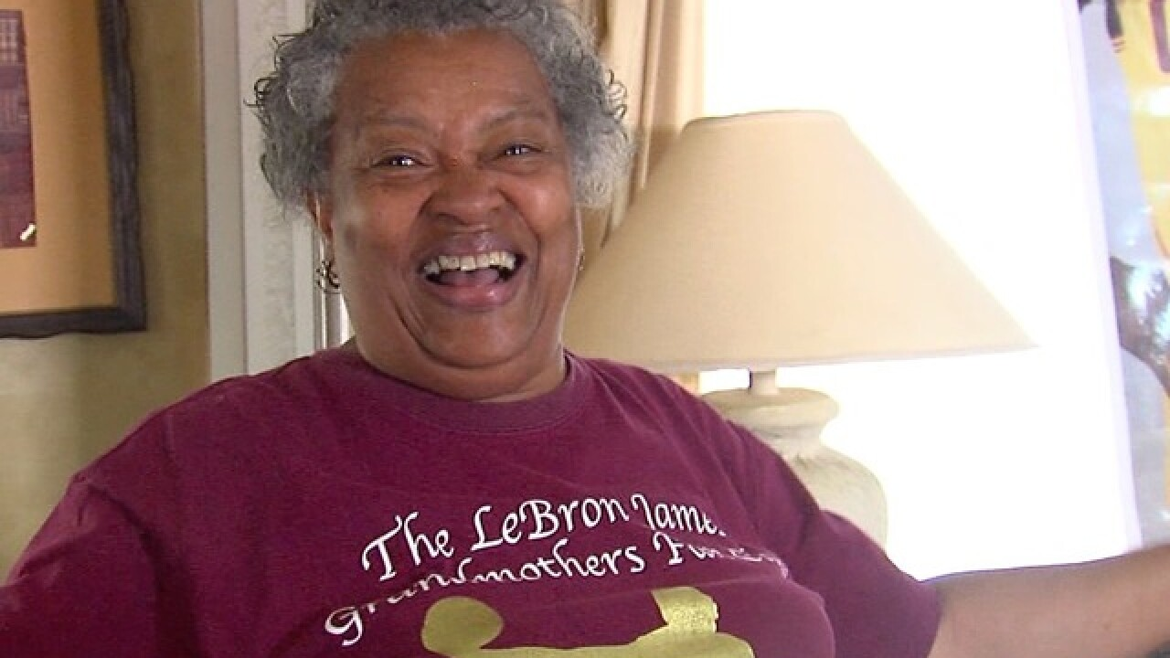 LBJ Grandmother's Fan Club fired up for finals!