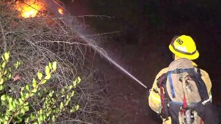 Brush fire breaks out in Mission Valley area