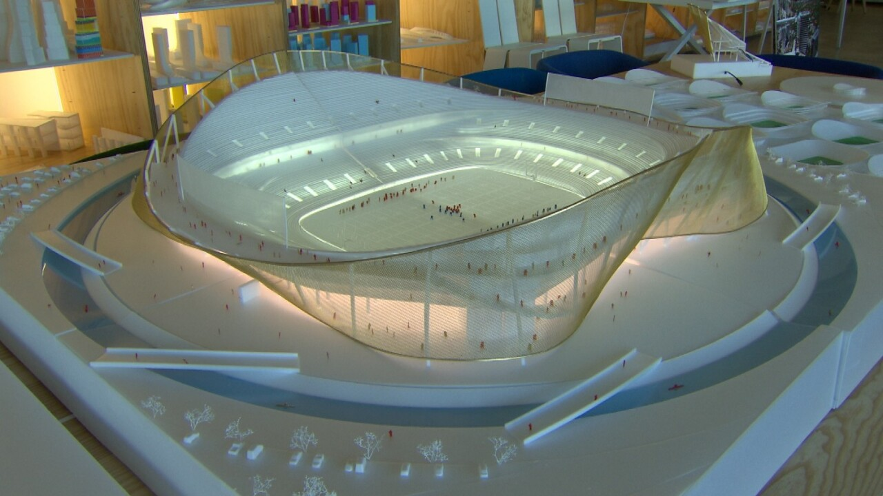 Washington Redskins unveil model for new stadiumconcept
