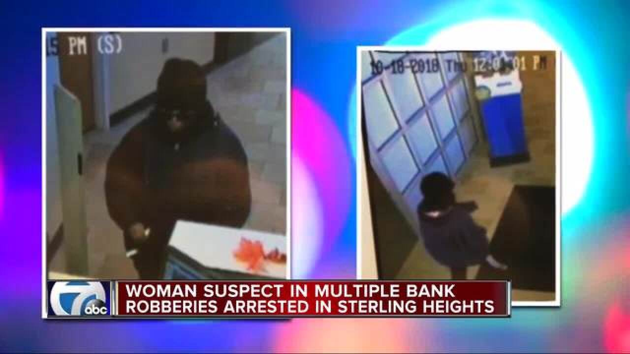Woman in custody in multiple bank robberies