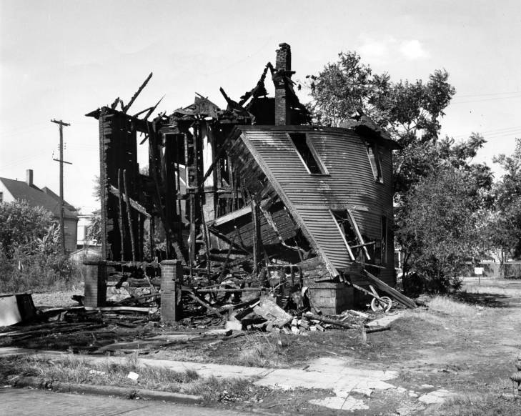 Hough Riots, 1966-Residence Destroyed by Fire.jpg
