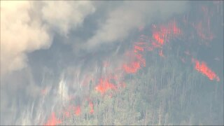 Wildfire sparks in Grand County near Henderson Mill