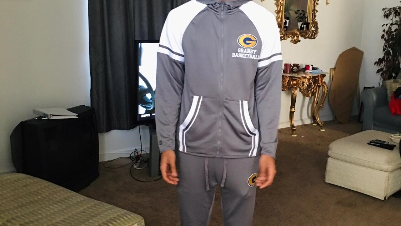 Kenneth Hunter Senior from Granby High School; honor student and basketball player!.jpg
