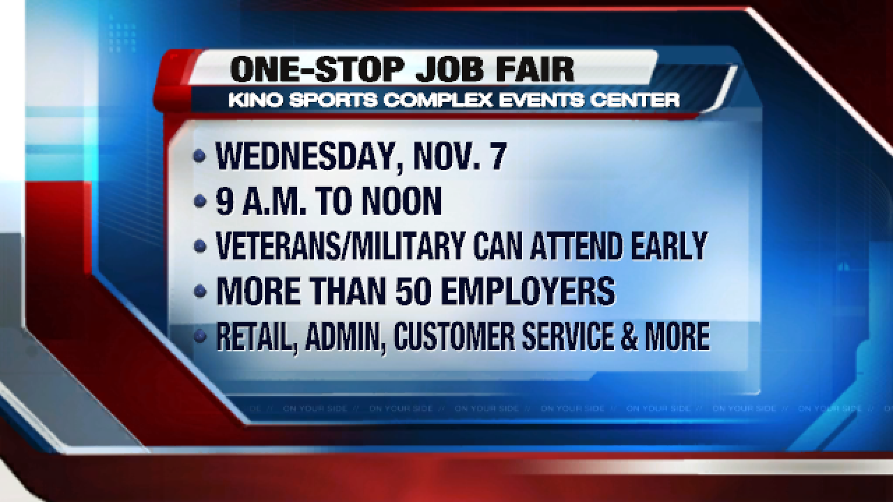 Pima County One-Stop to sponsor Job Fair at Kino Sports Complex Workforce Center