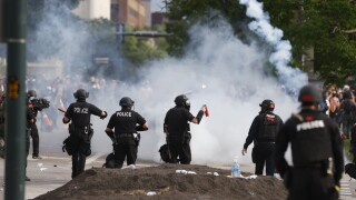 denver police tear gas george floyd protests