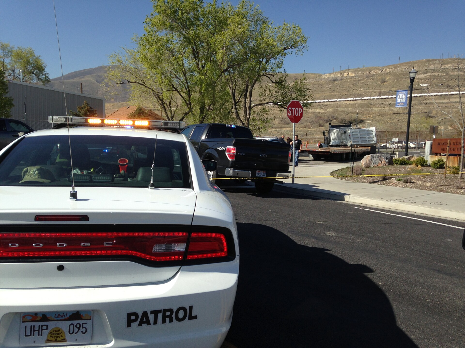 Photos: Dump truck police chase ends with spike strips, pepper spray; incident caught oncamera