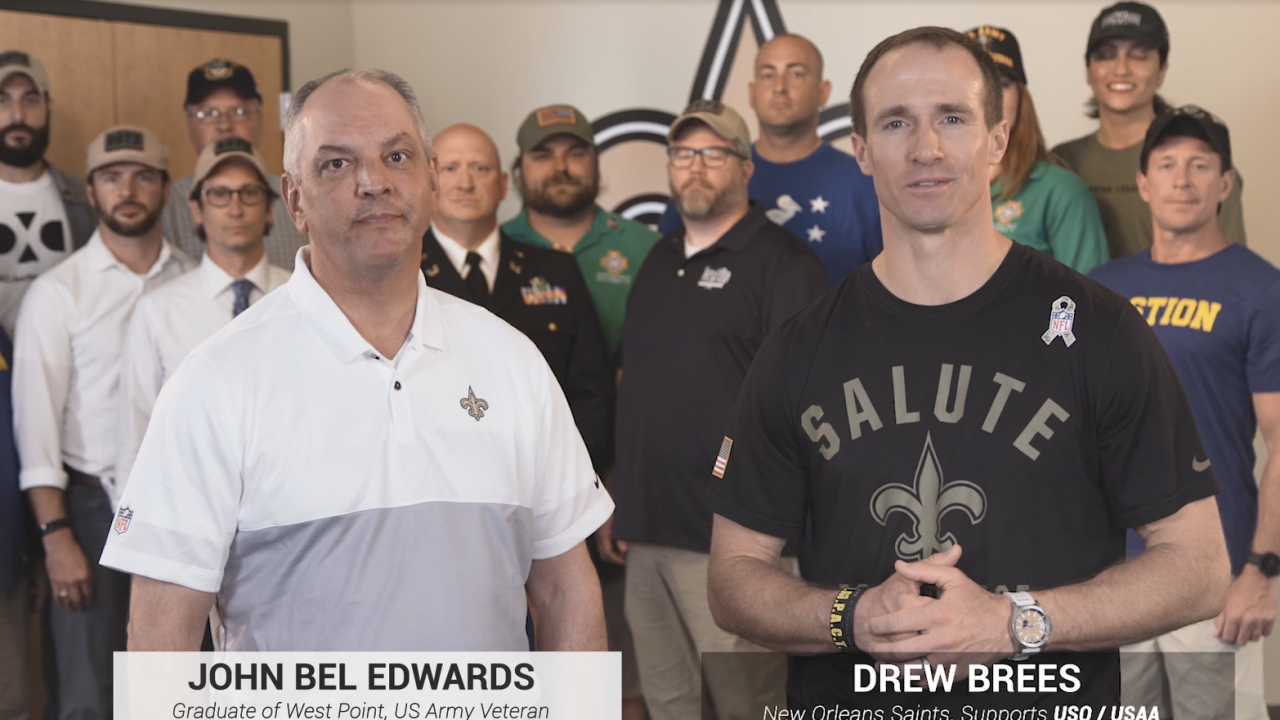 Edwards and Brees announce Veterans initiative