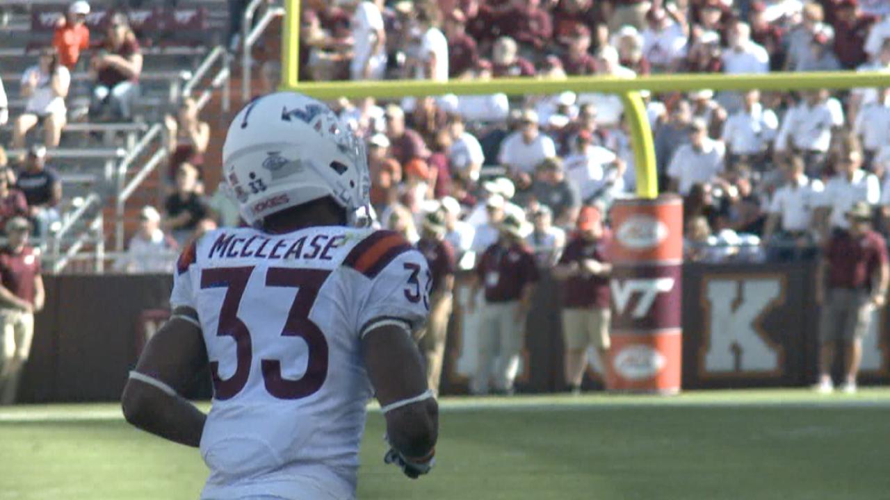 Virginia Tech running back Deshawn McClease