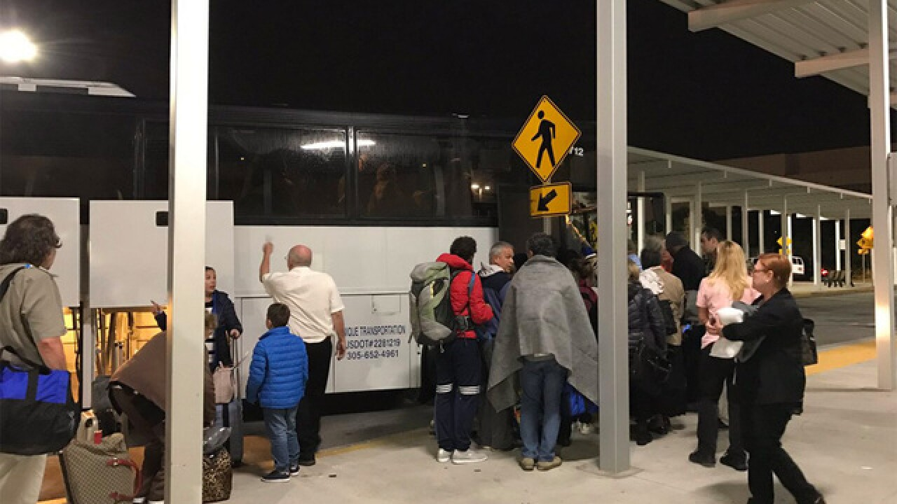 Stranded passengers still trying to get home