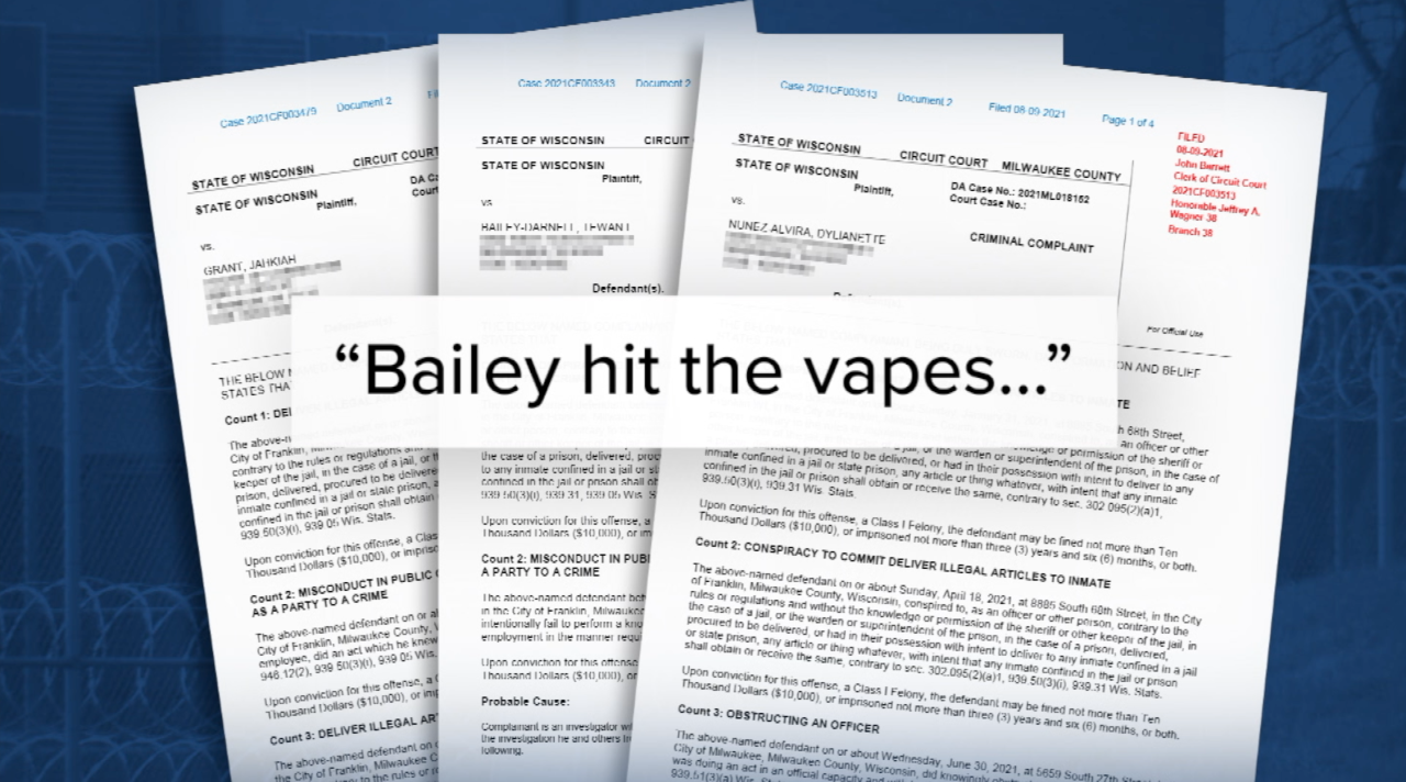 Bailey accused of vaping at work