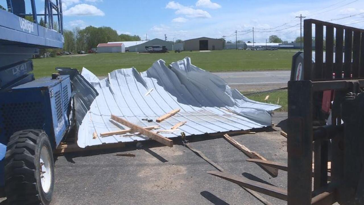 Storm aftermath in Coldwater