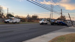 Crash at Weber Road and Oday Parkway