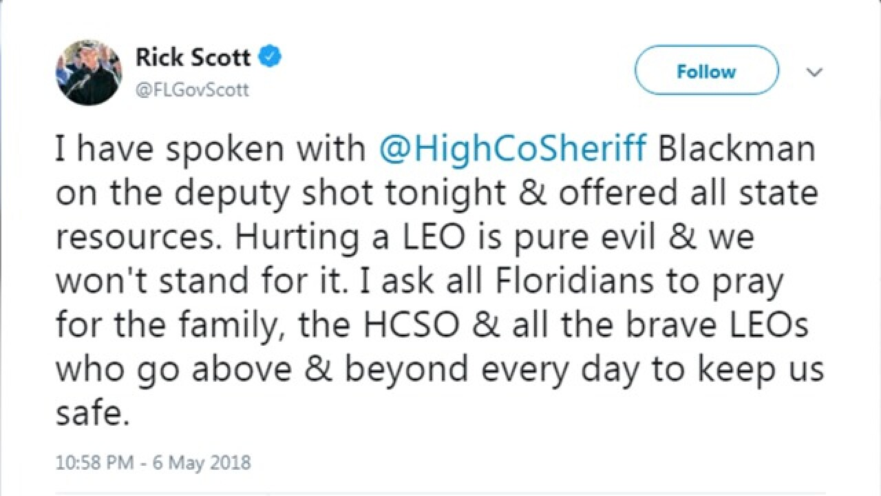 Highlands County deputy shot, critically wounded