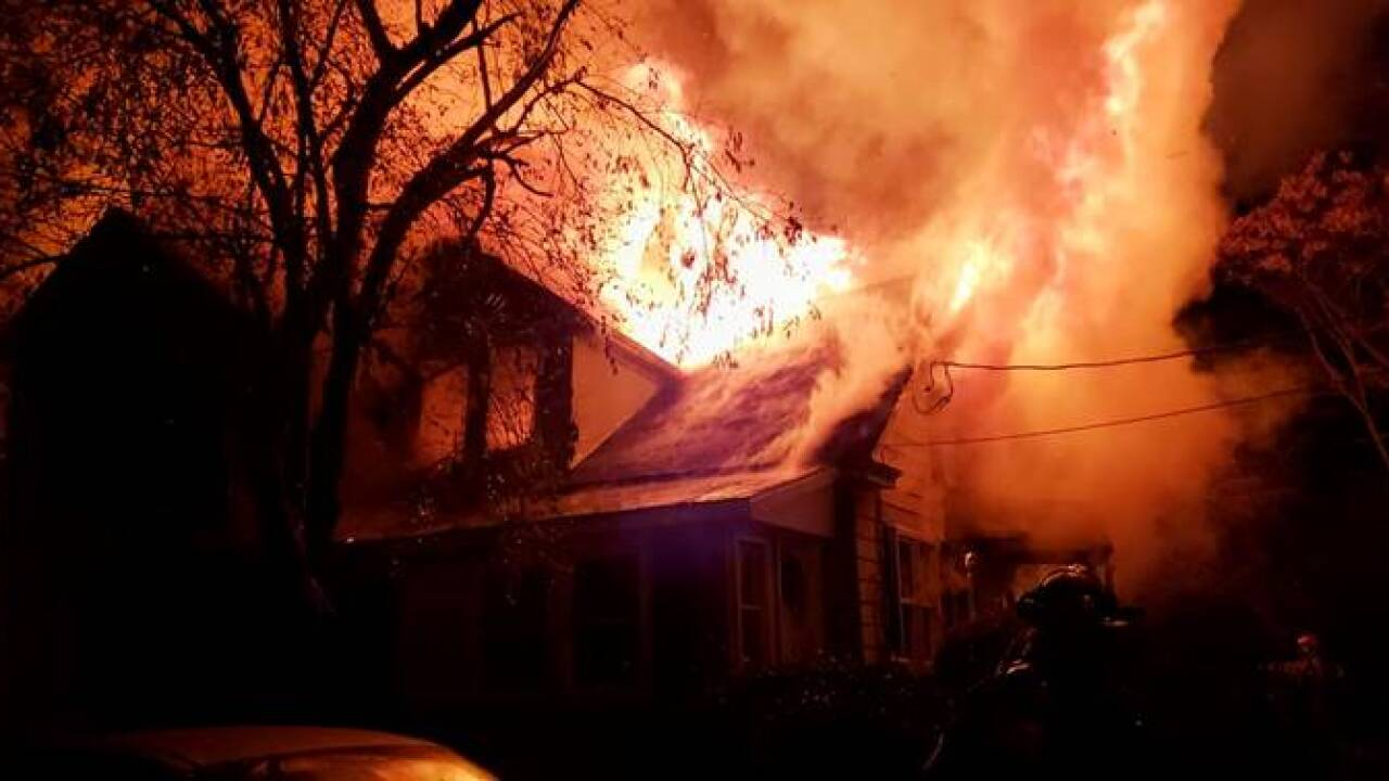 100-year-old woman dies in large Northampton County housefire