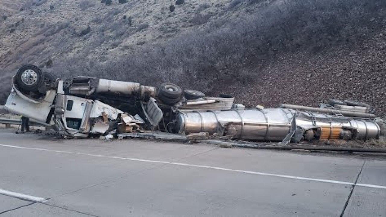 Chemical tanker rollover