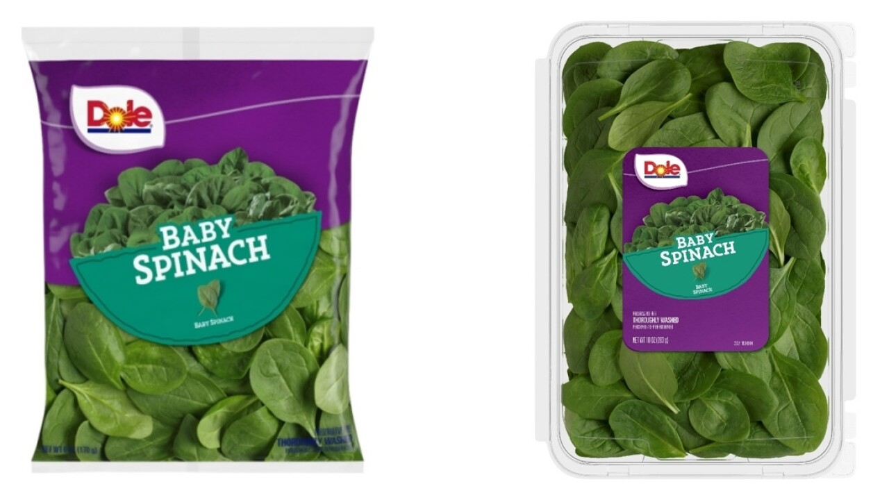 Dole baby spinach sold in Wisconsin, recalled