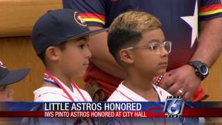 Pinto Astros honored at City Hall