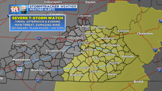 Severe T-storm Watch Issued for Central & Eastern KY