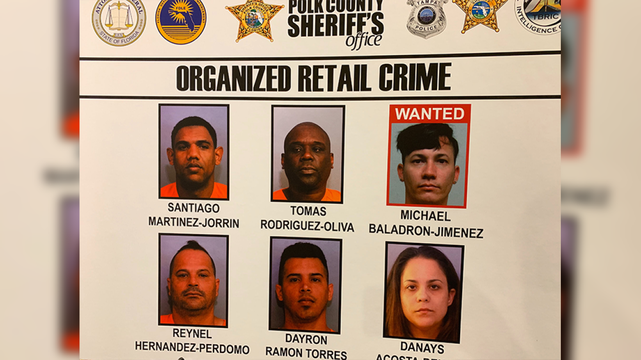 Sheriff: Retail theft suspects stole more than $2 million in