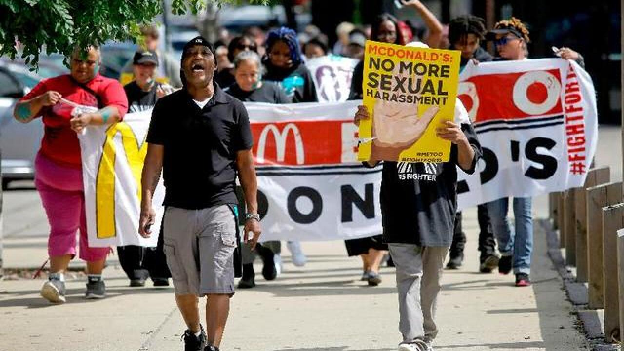 McDonald's workers hold one day strike