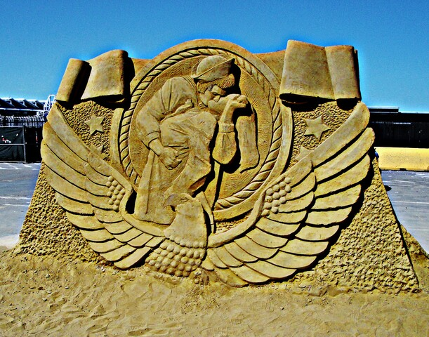 PHOTOS: Works of art from sand at US Sand Sculpting Challenge