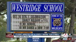Kansas 12-year-old arrested for pointing 'finger gun' at another student