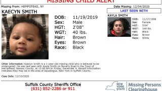 1-year-old missing LI