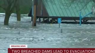 Two breached dams lead to evacuations in Mid Michigan