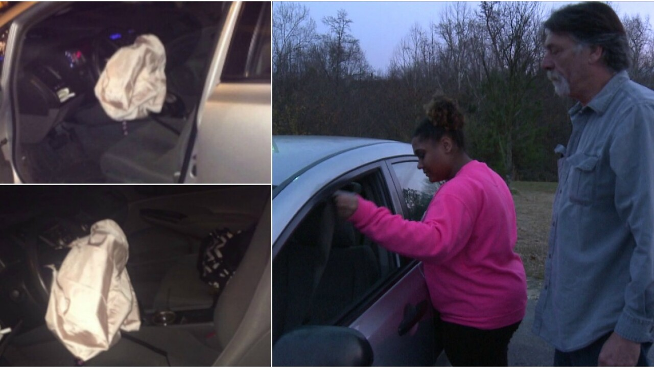 'I couldn't breathe,' teen says airbag deployed unexpectedly while she was driving
