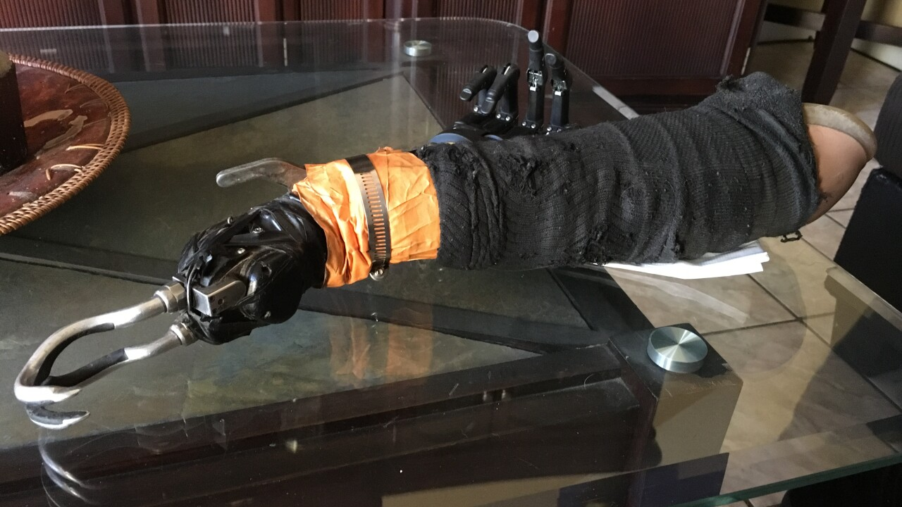 The owner of a mysterious mechanical hand that showed up in a Las Vegas pawn shop has been identified
