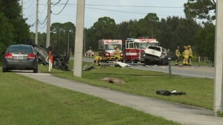 One person is dead and another injured after a two-vehicle crash on Cove Road in Stuart.
