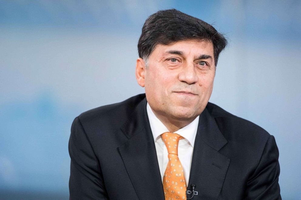 Rakesh Kapoor, chief executive officer of Reckitt Benckiser Group Plc, pauses during a Bloomberg Television interview in London, Feb. 19, 2018. Jason Alden/Bloomberg via Getty Images