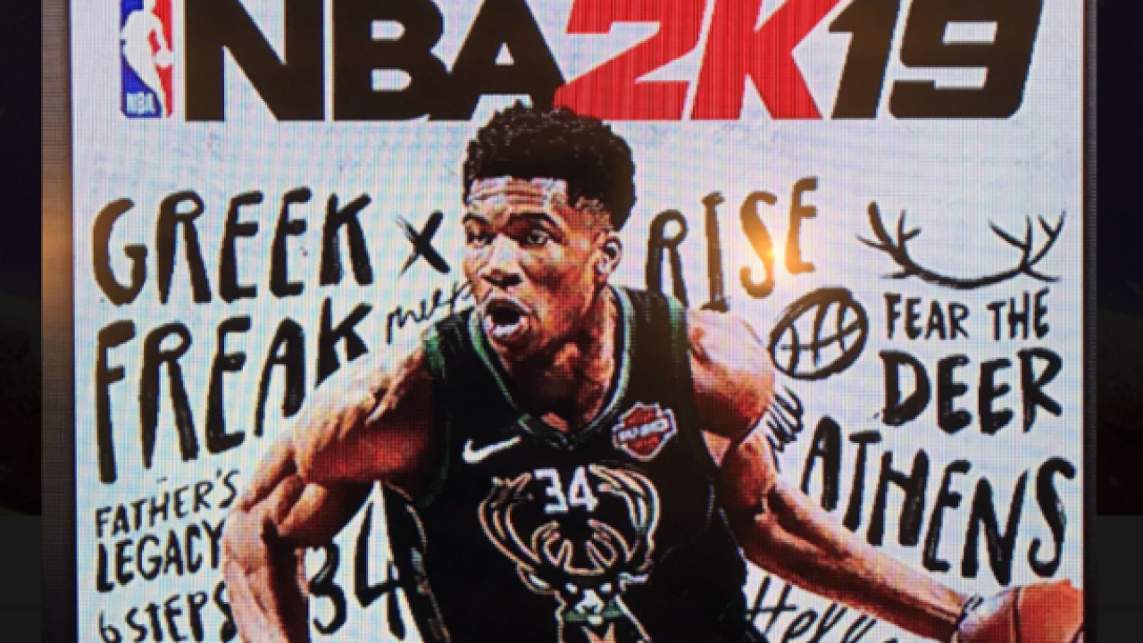 Giannis Antetokounmpo named as cover of NBA 2K19