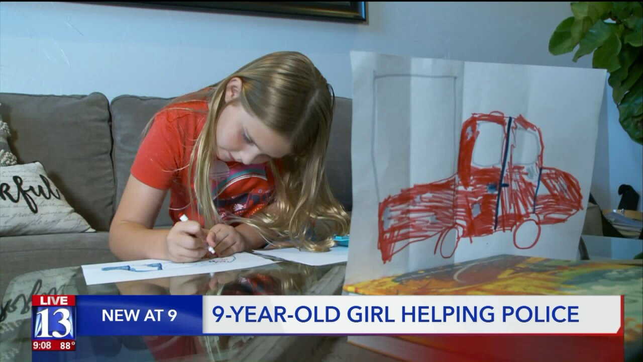 Utah girl's drawing brings police closer to finding porch pirates