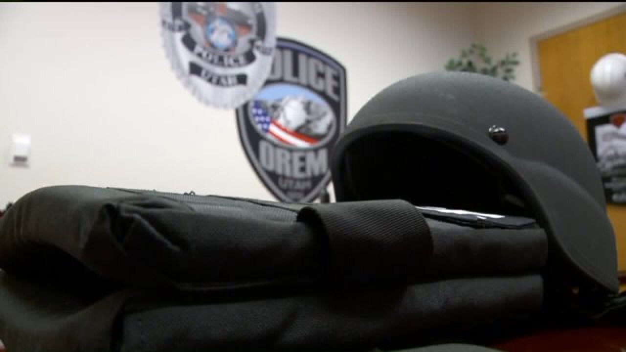 Orem police officers equipped with new protectivegear