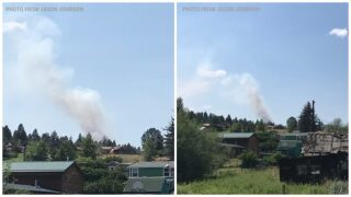 Two wildfires burning near Clancy