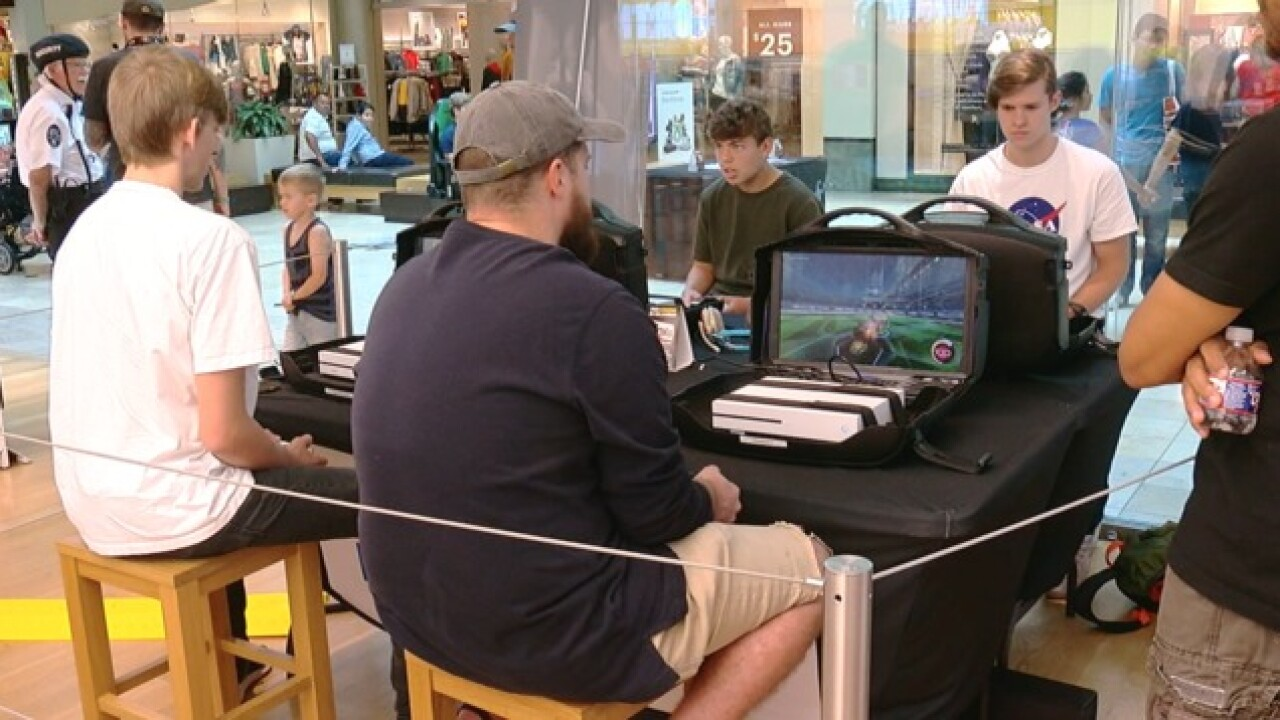 Gaming tournament at Woodland Hills Mall